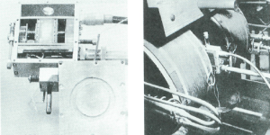 Bloch and Purcell's early NMR set-up, ca. 1946.  Sample probe (left) and electromagnet (right) .Reproduced from [3]